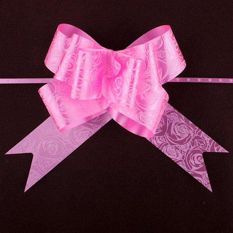10 pcs lot Pull Arc Rubans Cadeau Emballage Mariage arc cadeau fleur