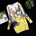 Nova primavera impressão pulôver das mulheres camisola vestido de camisola projeto longo plus size solta blusa básica de alta qualidade