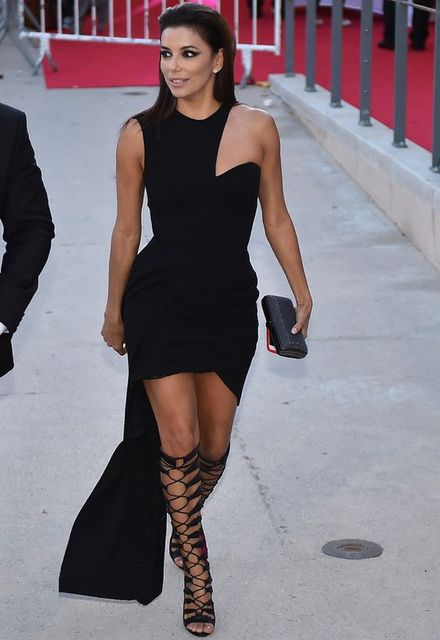 2017 Sexy Inspiriert Von Eva Longoria Celebrity Dress Abendkleid Asymmetrische Schulter