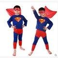 Meninos Conjuntos de Trajes de Halloween Homem-Aranha Cosplay Roupas de Super-heróis superman Spiderman Crianças Do Partido Dos Miúdos da Roupa Do Desgaste Estágio