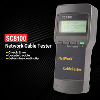 SC8108 Multifunctional Network Tester Portable LAN Phone Cable Meter&Tester Wire Tracker LCD Display 5E 6E RJ45
