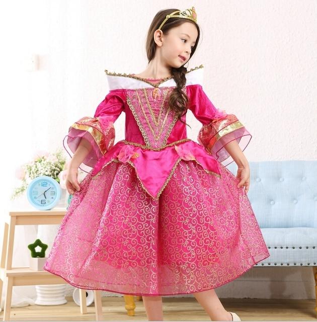 Princess Sleeping Beauty Aurora Girl Dress Kids Cosplay Dress Up ...