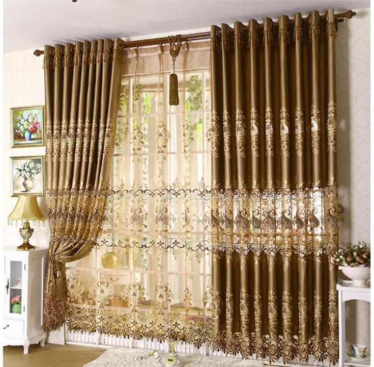 Home Decor Continental Soluble Embroidery Window Curtain