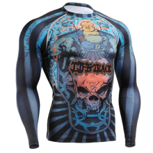 2016 training shirt shirts for men brand rock printing shirts printed long sleeve sports clothing 3d sublimation cloth
