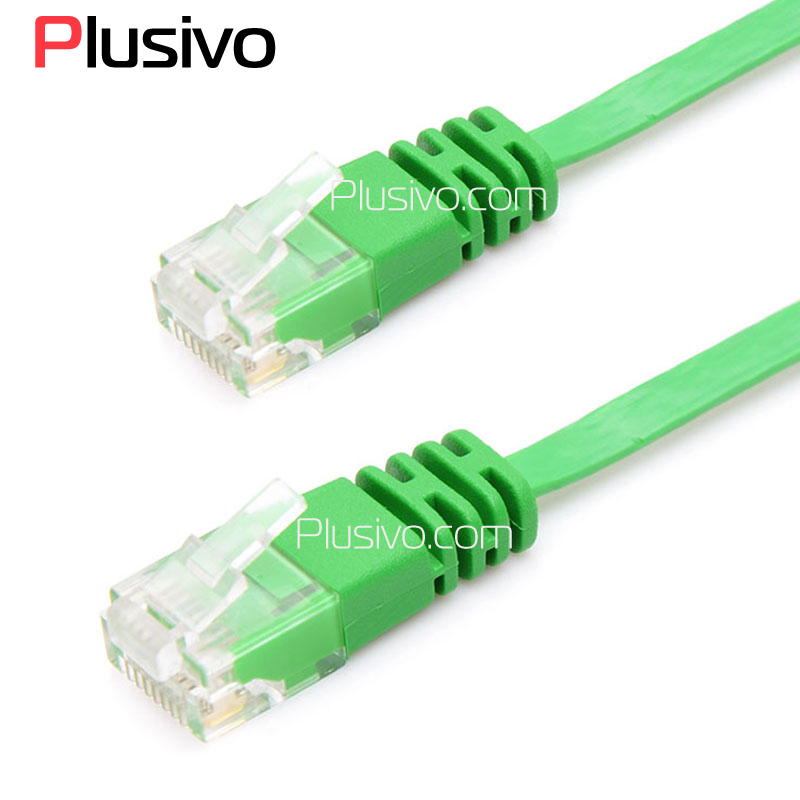 CAT6 RJ45 Network Cable Flat UTP 10/100/1000 Mbps Ethernet Network Cable 32AWG Bare Copper For Router DSL Modem Laptop factory price 50cm cat 7 10 gigabit ethernet cable modem router rj45 for lan network au4 drop shipping drop shipping