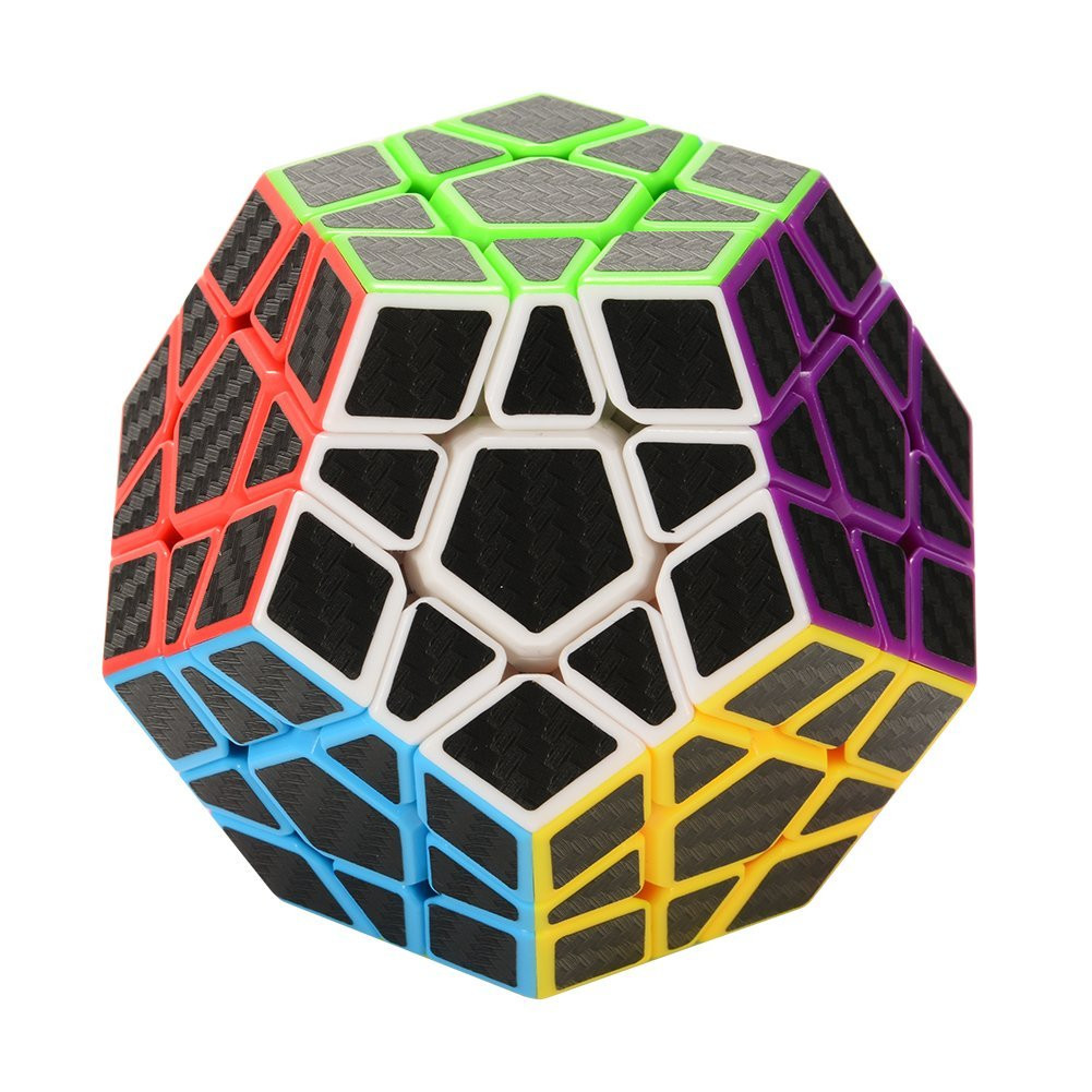 Cute Gift 3x3 Megaminx Speed Cube Carbon Fiber Sticker Smooth Pentagonal Dodecahedron Puzzles Cube 30S71101 drop shipping
