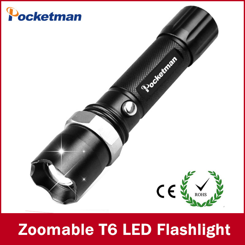 High-quality Super bright Black FT17 3800LM Waterproof LED Flashlight 5 Modes Zoomable LED Torch linternas free shipping p80 panasonic super high cost complete air cutter torches torch head body straigh machine arc starting 12foot
