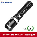 High-quality Super bright Black FT17 3800LM Waterproof LED Flashlight 5 Modes Zoomable LED Torch linternas free shipping