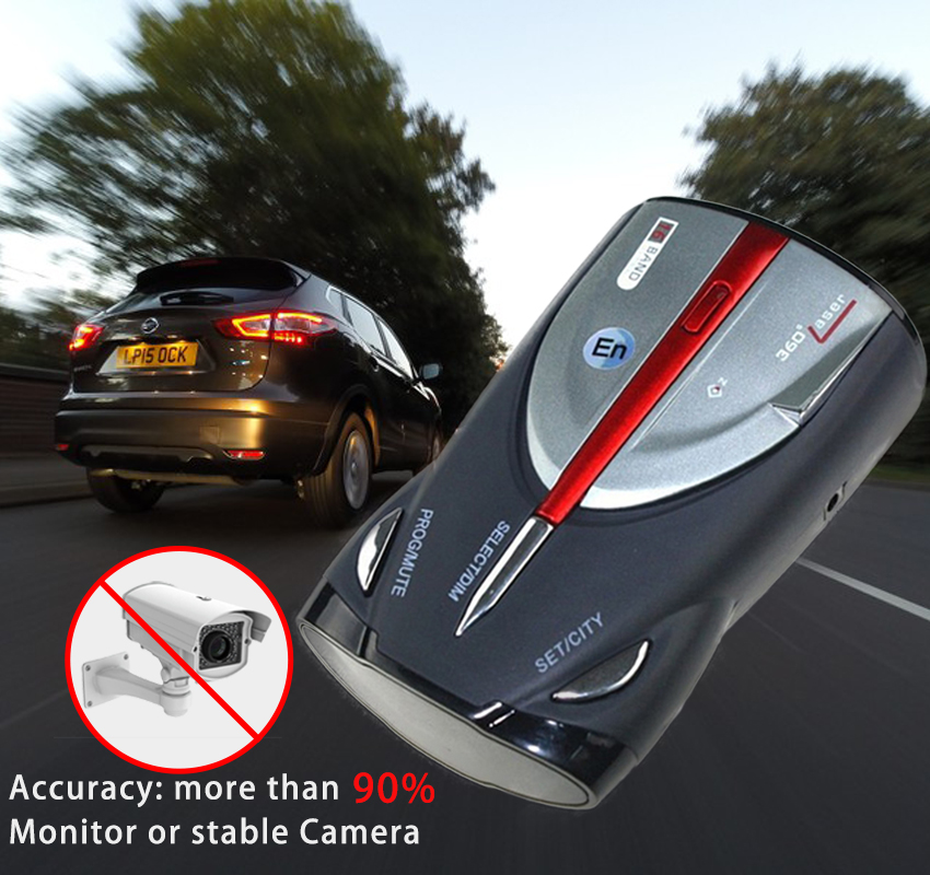 где купить ENKLOV XRS9880 Car Radar Detector English Russian Auto 360 Degree Vehicle Voice Alert Alarm Warning 16 Band LED Display дешево
