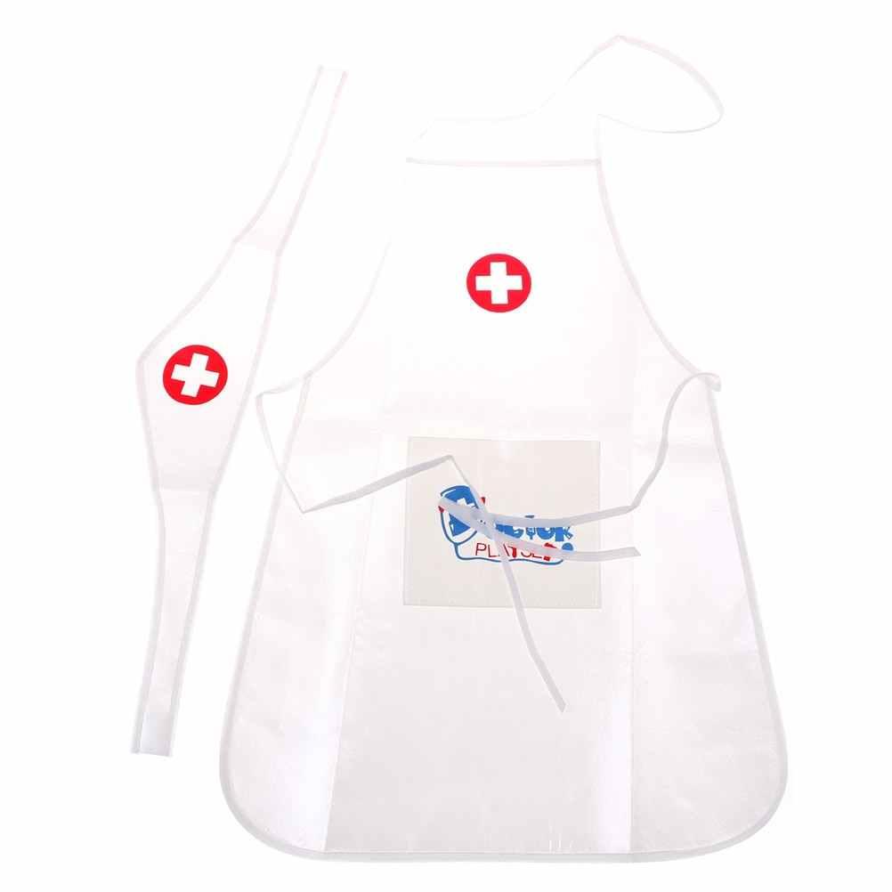 6f2832ca66908 Los niños jugar juego médico ropa juguetes médico enfermera realizar  pequeñas vacaciones regalo para bebé juguetes