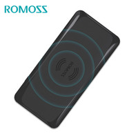 Wireless Charger Wirth 5000mAh Power Bank ROMOSS Portable External Battery Built In Qi Wireless Charging Universal