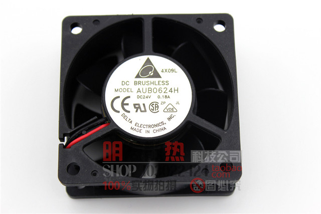 0624 H 6025 0.18A 6 CM 24 V 6 cm 2 fio inversor ventilador de refrigeração