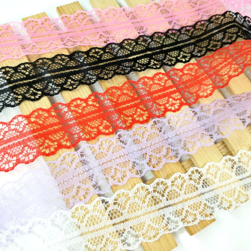 HL 10 yards 30mm Width Bilateral Craft Net Embroidery Ribbon Lace Wedding Birthday Christmas Bow Decorations in Lace from Home Garden