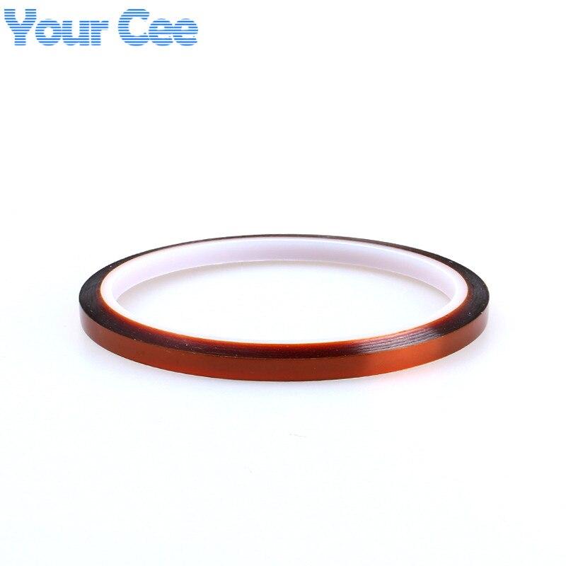 2 шт. термостойкая лента теплозащитная лента полиимидная лента для BGA PCB SMT 3d принтер до 250 Цельсия 5 мм x 33 м высокая