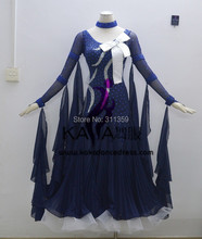 KAKA DANCE B1432,2014 New Dance Wear Ballroom Standard Dance Dress, Pakaian Pertandingan Waltz, Wanita, Pakaian Tarian Ballroom
