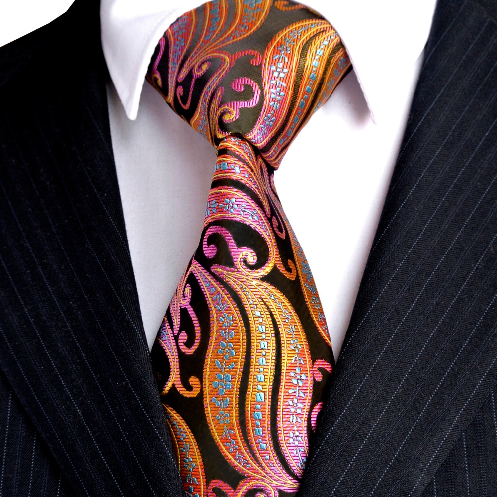 Free Shipping Stripes Paisley Multicolor Green Yellow Red Pink Black - Apparel Accessories - Photo 5