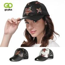 GOPLUS 2019 Fashion Colorful Stars Glitter Sequins Baseball Cap Women Summer Patchwork Mesh Hat Girl Hip-Hop Trucker Female