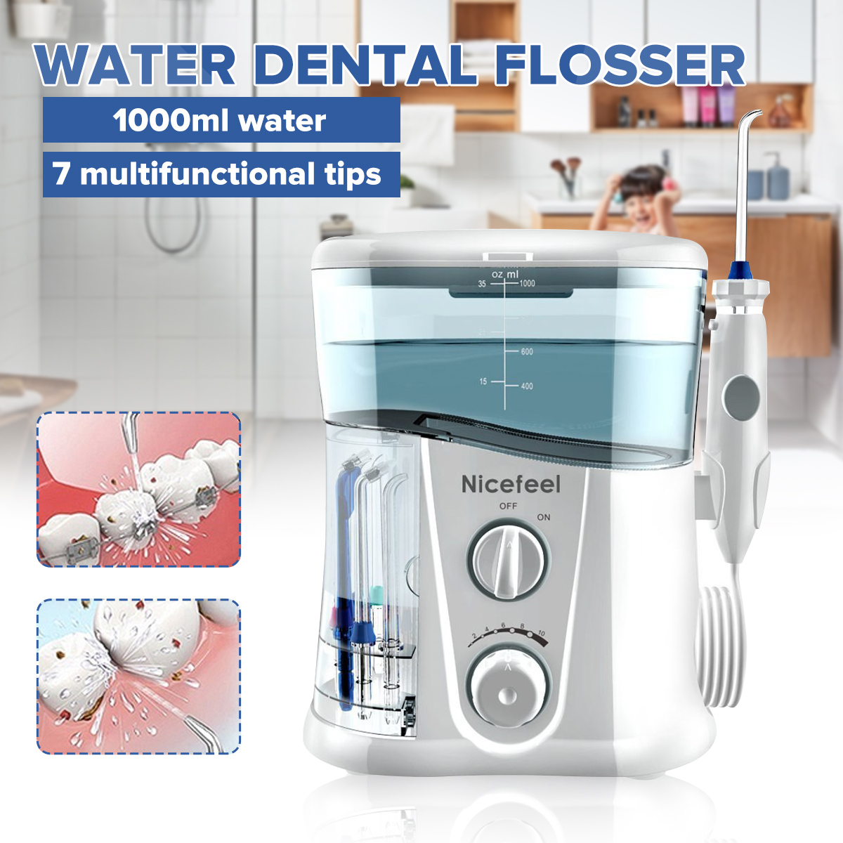 Appliances Irrigator-Care Water-Flosser-Jet Water-Toothbrush Nicefeel Dental-Spa Oral