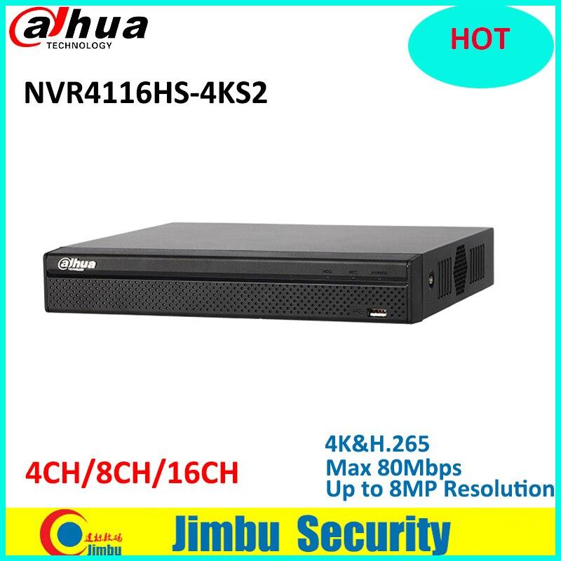 Dahua NVR 16Ch NVR4116HS-4KS2 1U 4 K & H.265 Lite Network Video Recorder H.265/H.264 Fino a 8MP HDMI/VGA uscita simultanea