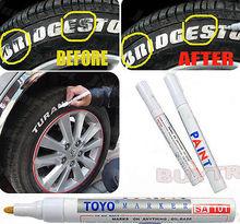 White Waterproof Rubber Permanent Paint Marker Pen Car Tyre Tread Environmental Tire Painting 8 colors