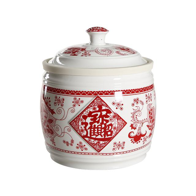 Adeeing 5KG Household Kitchen Rice Cylinder with Lid Grain Storage Container