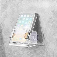 Casa atualizado mais forte banheira caso do telefone celular suporte caddy bandeja montar dois poderosos forte ventosas titular para o telefone
