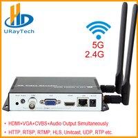 Wireless H.264 HDMI VGA CVBS Decoder HD Video Audio IP Streaming Decoder WiFi HTTP RTSP RTMP UDP HLS To HDMI VGA CVBS Receiver