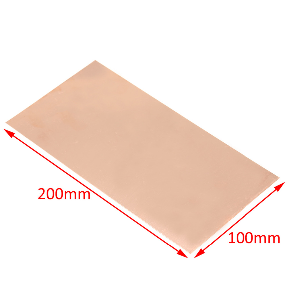 1pc New 99.9% Pure Copper Cu Metal Sheet Plate Foil Panel 100*200*0.5MM For Industry Supply 1pc new titanium plate sheet ti metal for industry tool 100 100 0 5