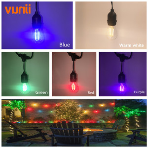 Image 3 - IP65 15M Commercial Grade LED S14 String Light Bulb LED Multicolor Light String For Outdoor Wedding Lighting Holiday Event Party