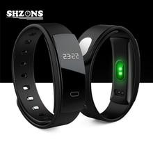 QS80 смарт-браслет 0.42 »OLED часы крови Давление Шагомер монитор сердечного ритма Будильник фитнес-трекер для iOS и Android