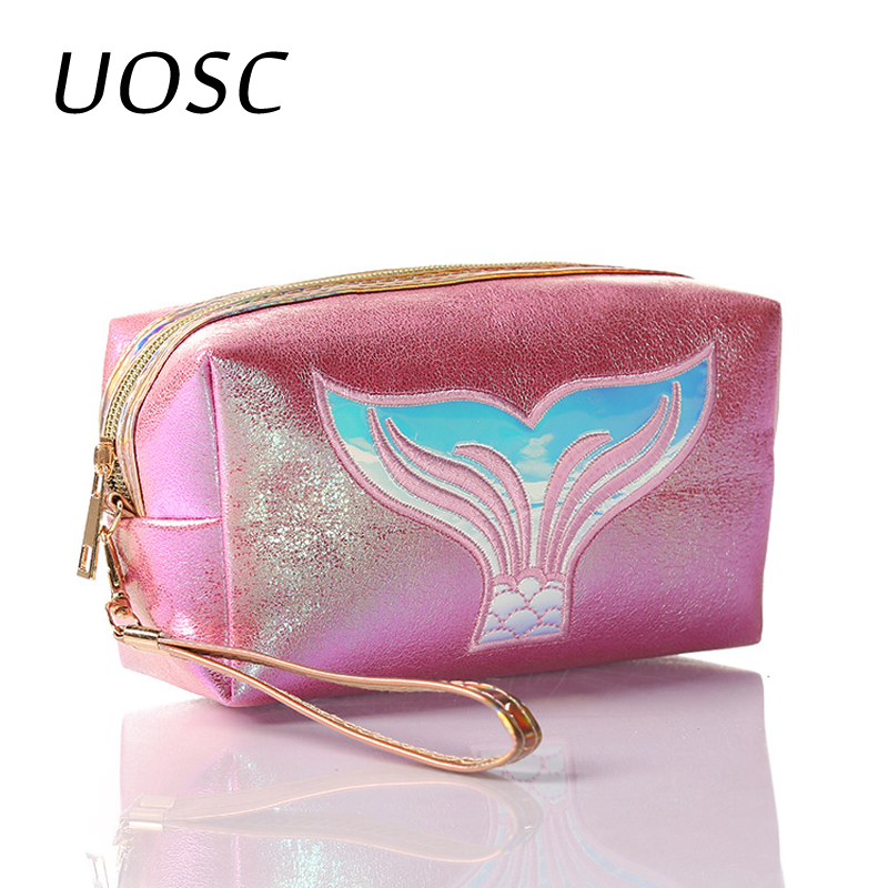 UOSC Functional Cosmetic Bag Women Fashion Travel Make Up Necessaries Organizer Zipper Makeup Case Pouch Toiletry Kit Bag