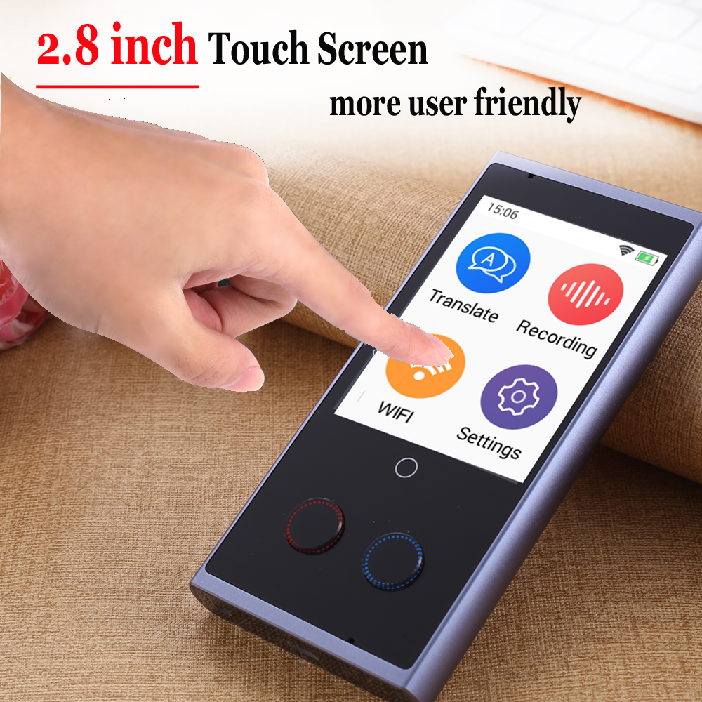 CTVMAN 75 Language Instant Voice Translators in 75 Languages with 2.8 Touch Screen Suitable for Travel and Meeting 1