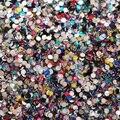 Brillo nail art decoración de 12 colores 2 mm 2000 unids acrílico rhinestone del brillo para uñas
