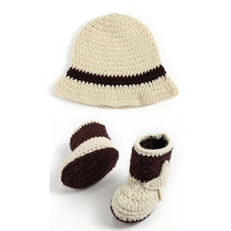 Hecho a mano de punto del bebé del sombrero de vaquero y Botas ...