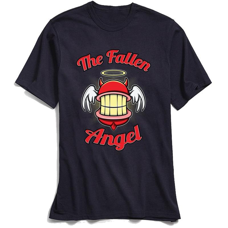 the Fallen Angel 2018 New Men's Tshirts Crew Neck Short Sleeve Cotton Fabric Tops T Shirt Classic Tops & Tees Wholesale the Fallen Angel navy
