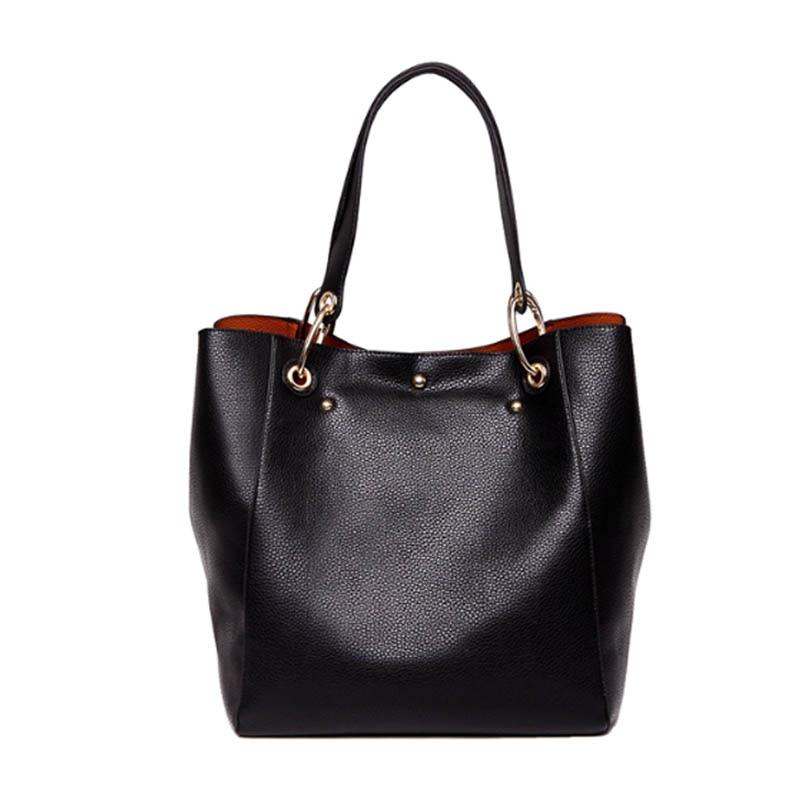 LEDANI Brand New Women PU Leather Handbag Brief Shoulder Bags Female High Capacity Big Handbags Tote Bags Four Colours Hobos