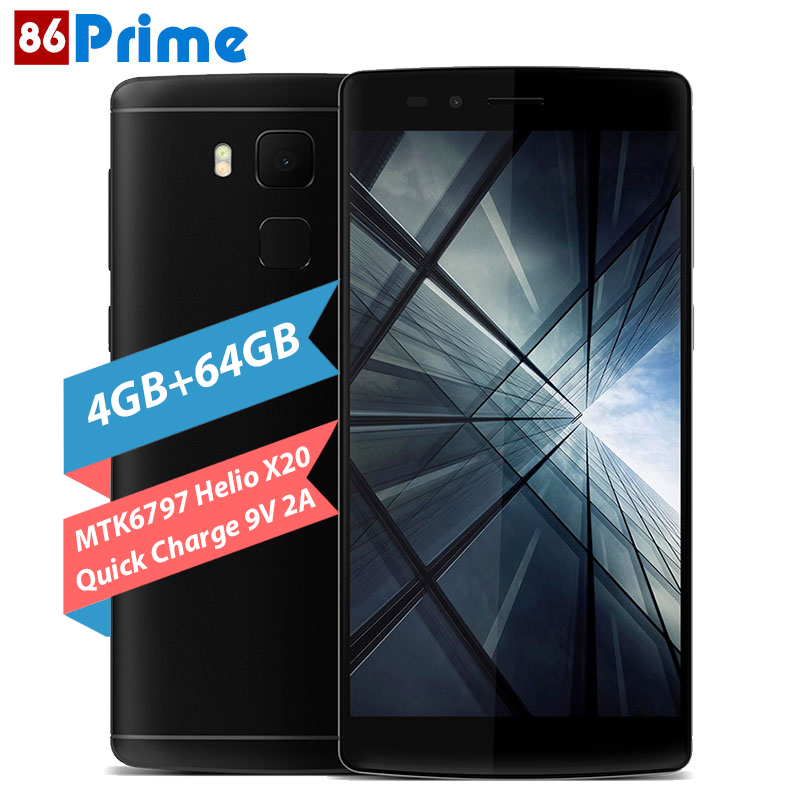 Original Vernee Apollo X Mobile Phone 4G FDD LTE Android 6.0 Smartphone 5.5 Inch FHD 13MP 4GB 64GB MTK6797 Deca Core cell phone