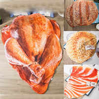 Creative Cartoon 3D Food Printing Air Conditioner Quilt Summer Comfortable Quilt Washable Thin Polyester Quilt 80 X 115 cm