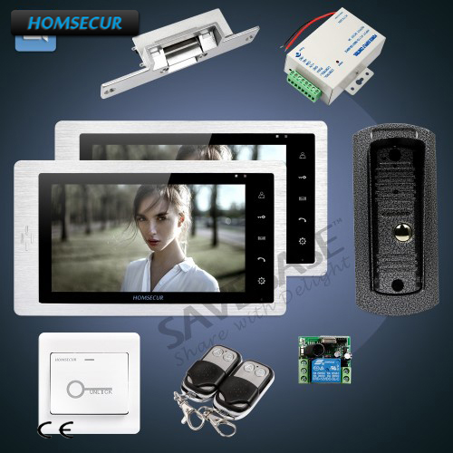 HOMSECUR Wired Video Door Phone Intercom System + 7 LCD Monitor with Video Recording, Photo Taking and OSD Menu