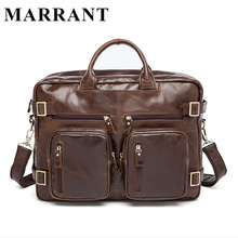 MARRANT Genuine Leather Men Bag Men's Fashion Messenger Handbags Laptop Briefcase Portfolio Tota Causal Male travel pack bag 341