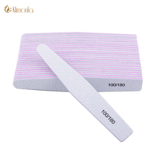6de46bae8aa 10pcs lot Nail File 100 180 Gray Diamond Polishing Professional Files Nail  Art Buffer