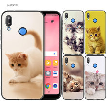 Black Silicone Case Bag Cover for Huawei P30 P20 P10 P9 P8 Mate 10 20 Lite 2017 Mini Pro P Smart Plus 2019 Animal More Cute Fox(China)