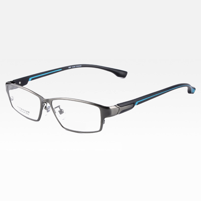 Reven Jate EJ267 moda montura de gafas para hombre Ultra liviano Flexible IP chapado electrónico Metal llanta de material gafas - 5