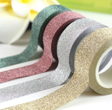 5M DIY Self adhesive Glitter Washi Paper Tape Sticker Wedding Birthday Festival Decoration Home Decor