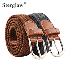2018 Real Rushed Adult Solid 100-120cm Casual Stretch Woven Belt Women's Child Elastic Belts For Jeans Elastique Modeling N201
