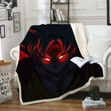 New 2019 Red Anime Printed Velvet Plush Throw Blanket Bedspread For Kids Girls Sherpa Blanket Travel Couch Quilt Cover Diy(China)