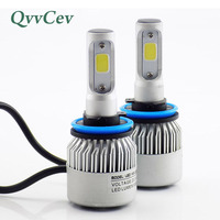 Qvvcev Automobiles Led Light H11 Car Headlight Bulb Cob Auto Lamp Car Styling 6500K 8000LM 72W