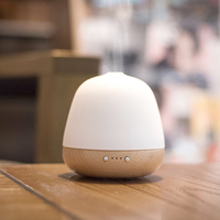 180ml Humidifier Ceramic Real Wood Aroma Essential Oil Air Diffuser Ultrasonic Night Light High Quality Natural