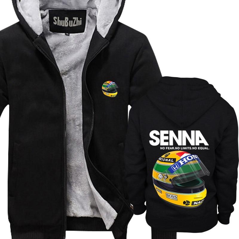 1af4eb32fc2 new arrived Ayrton Senna Helmet shubuzhi men winter thick fleece jacket  coat sweatshirt cool zipper hoodies casual hoody-in Hoodies   Sweatshirts  from Men s ...