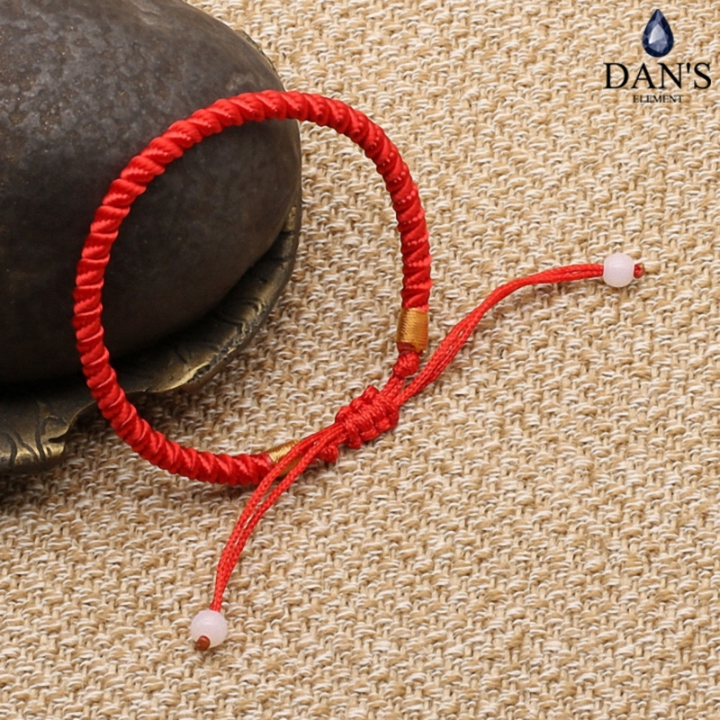 DAN'S ELEMENT Men red Rope Bangle Lucky Bracelets for Women Cord String Line Handmade Jewelry For Couple Lover Gift B001-red